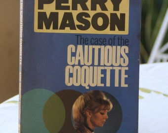 A striking 1950s Pan paperback edition of Erle Stanley Garner's  classic Perry Mason story The Case Of The Cautious Coquette