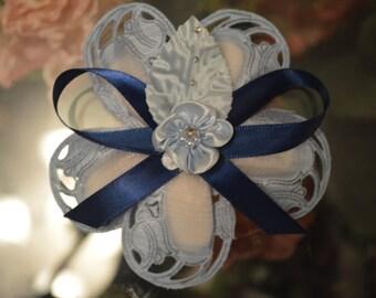 LOT OF 10 Confetti Flower baby blue, Almond Favors, Bomboniere, Italian favors, Jordan almonds flowers, Koufeta, Favours, baptism favors