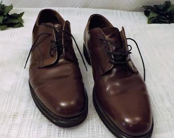 Vintage Hanover Shoes  Brown Leather Dress Oxfords  Size  14