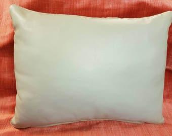 Grey Handmade Leather Cushion
