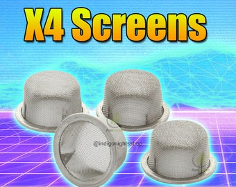 Gemstone Crystal Pipe Raplacement Screens X4