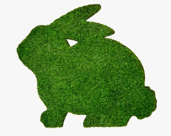 Easter Bunny Synthetic Grass Doormat | Rug | Wall Decor