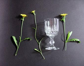Shot glazen - glazen set van 6 Retro 50s - Franse Vintage Franse Retro tabel Service - tabel kerstfeest
