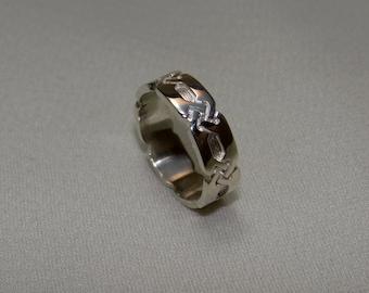viking ring, silver viking ring,