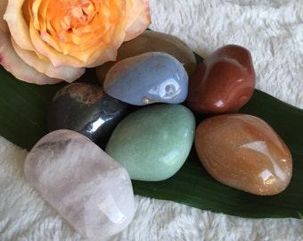 XL Assorted Tumbled Crystal Lot, Reiki Infused, Meditation, Metaphysical