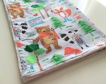 Minky baby blanket, Bears baby blanket, Baby blanket, Boy baby blanket, Animals baby blanket, Girl baby blanket, Baby shower gift, Baby gift