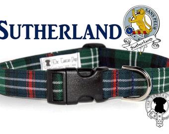 Sutherland Tartan Dog Collar