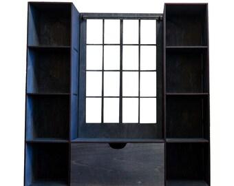 Shelf-window #1 for doll size 1/6, 1/4, 1/3 (BJD MSD, momoko, blythe, obitsu, volks, unoa, barbie, fashion doll, azone, furniture)