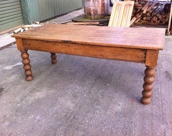 Antique Quarter Sawn Oak Coffee Table