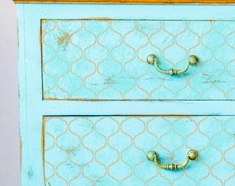 JASMINE TRELLIS Wall Furniture Craft Stencil - Moroccan Trellis Stencil - JA001