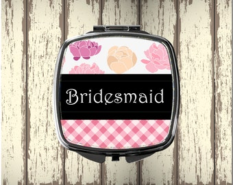 Bridesmaid Gift - Personalized Compact Mirror  - Perfect Mother's Day Gift - Personalized Gift - Valentine's Day - Wedding Party Gift