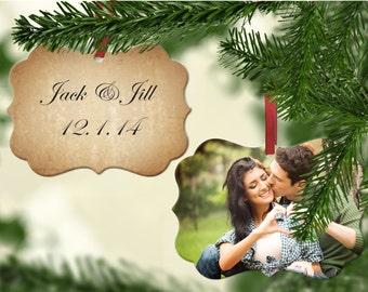 Wedding Christmas Ornament - Wedding Photo Ornament, First Christmas Ornament, Custom Photo Ornament, Wedding Ornament - Christmas Tree