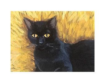Cat Print of Original Acrylic Painting
