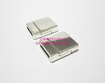3pcs 13x2.5mm magnetic clasp Antique silver 13mm Flat leather clasp