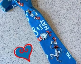 Little Boy Necktie / Handmade Dr. Seuss Neck Tie
