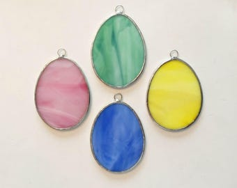 Handmade Stained Glass Easter Eggs (Set of 4)