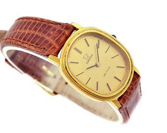 Vintage Omega De Ville Cal.625 Hand Wind Gold Plated Petite Ladies Watch 1056 - Make me an offer!