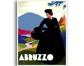 Abruzzo Art Italy Travel Poster Vintage Print (XR977)