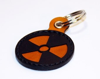 Radiation Hazard Symbol Keychain.Nuclear Keychain. Radiation Symbol. Caution Radiation. Handmade Keychain. Great Gift.