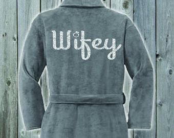 Wifey Plush Terrycloth Bridal Robe