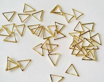 Gold triangle Metal frames- 3D japanese nail art 4 pcs