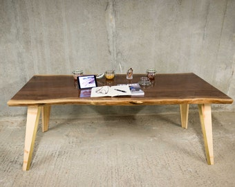 PHANTOM | Dining Table | American Black Walnut with Brass Accents