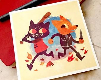 "Crimes - Night in the Woods 5x5"" Mini-Print"