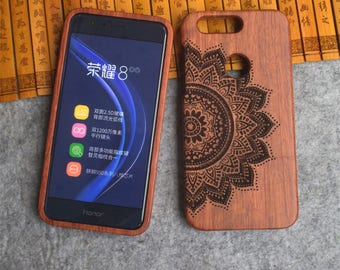 Engraved Wood phone Case , Wooden phone Case, Huawei honor 8 Case,rosewood ,bamboo case,customization picture,Personal image