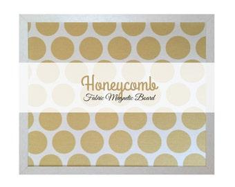 Fabric Magnetic Board / Yellow Polka Dots / Fun Geometric Pattern