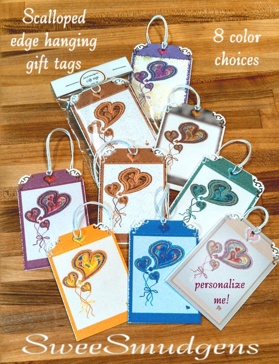 Custom print hang tags gift tag floral supply bouquet hang tag package ties bag tag party favor colorful hearts custom birthday party supply