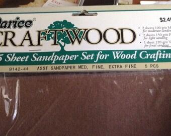 3 paquets de bois d'artisanat du papier de verre