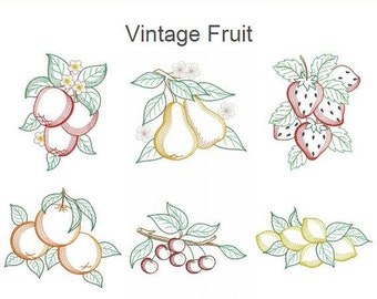 Vintage Fruit Machine Embroidery Designs Instant Download 5x5 6x6 8x8 hoop 15 designs APE2452
