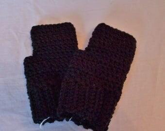 Black fingerless gloves; fingerless mittens; fingerless gloves; Black gloves; Black fingerless mitts; Black crochet fingerless gloves