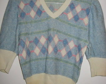Ladies 1940s Cable Knit Sweater