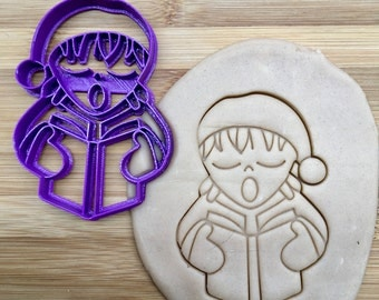 Christmas Cookie Cutter:  Christmas Caroler Cookie Cutter/Multi-Size