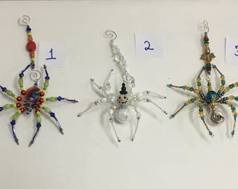 Swarovski Crystal Legendary Christmas Spiders with Matching Hooks