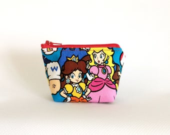 mario bros. | mini zipper notions pouch | notions keeper