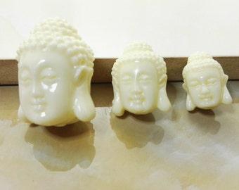 Double  sided Coral  Buddha Beads, Buddha Beads ,Meditation Beads , Buddhist Beads, Buddha  bracelet