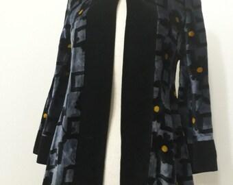 Vintage 1960s The London Mob Carnaby Street Velvet Printed Swing Jacket