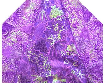 WHOLE 5 YARDS French Sequined Lace /Fabric For Sewing /Cord Lace Fabric For Wedding/Bridal Dressmaking Material CraftSupplier  Purple