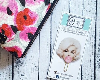CUSTOM Celebrity Planner Clips with Bows (Please Read Item Description), Planner Accessories, Piccadilly Charms