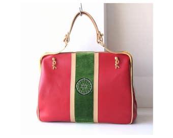 vintage Roberta Di Camerino leather velvet Bag