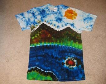 Crater lake, tie dye shirt, Oregon, lake life, lake shirt