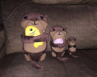 Otter Stuffies available in 3 sizes