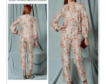 Vogue Sewing Pattern V1523 Misses' Bishop Sleeve Jumpsuit and Belt