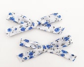 Blue Floral Liberty of London - headband or hair clip
