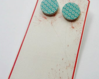 dots turquoise - wood studs