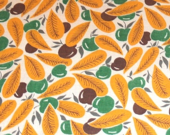 Vintage Feedsack Fabric Cherries Novelty 1930's 1940's 1950's Quilt Craft Patchwork American!