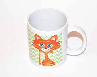 Ceramic Mug Cat Orange 330 ml