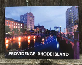 RISD / Waterfire Providence Postcard